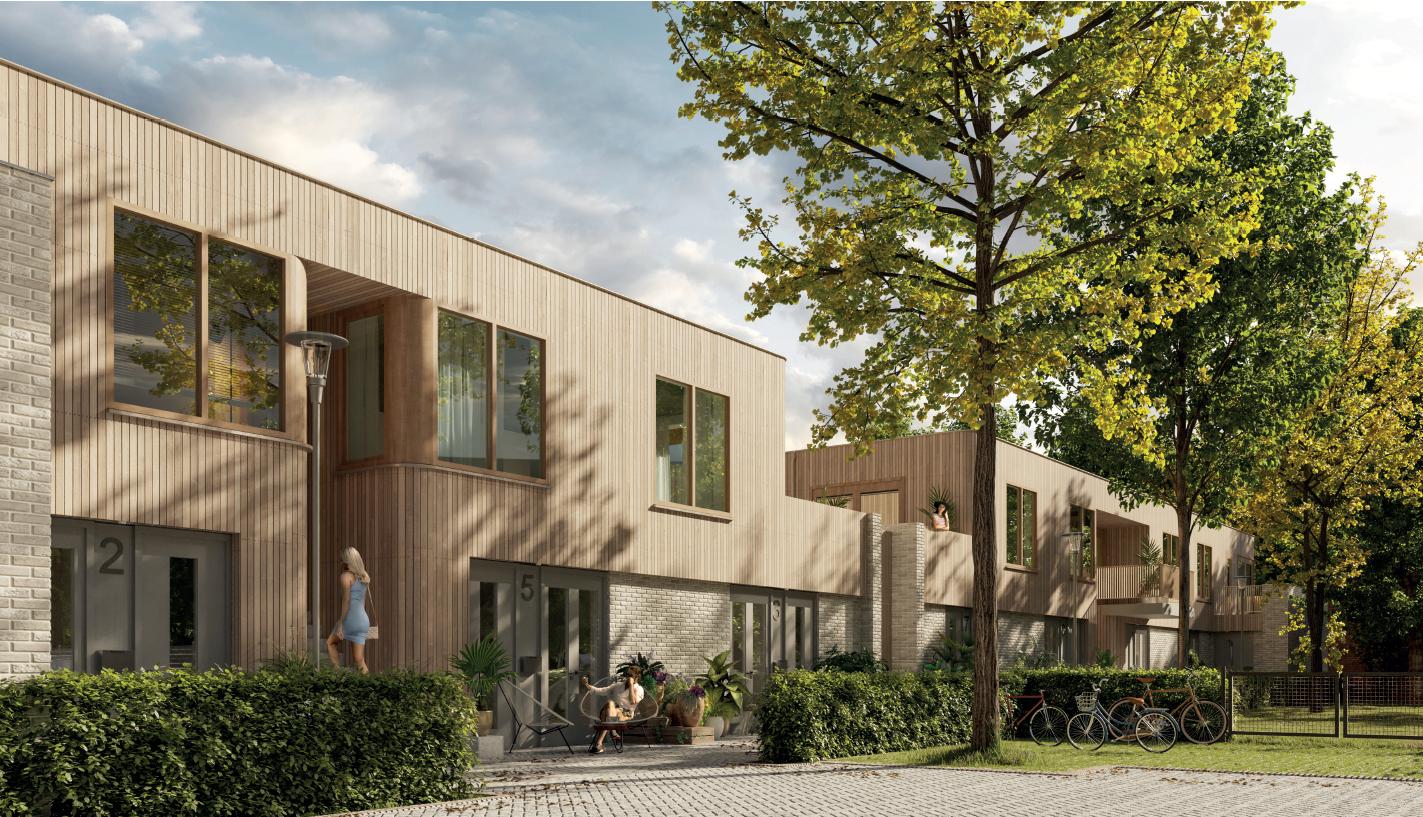 9 patiowoningen en 5 appartementen Kerkakkerstraat Eindhoven